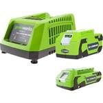 Аккумуляторы и зарядные устройства Greenworks
