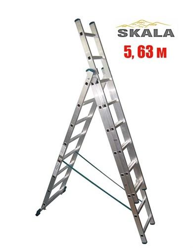 3-х секционная 5,63 метра, лестница-трансформер Skala