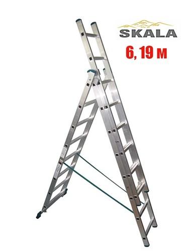 3-х секционная 6,19 метра, лестница-трансформер Skala