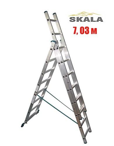 3-х секционная 7,03 метра, лестница-трансформер Skala