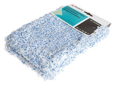 Сменная насадка для швабры из микрофибры, голубая, PERFECTO LINEA - фото 14171