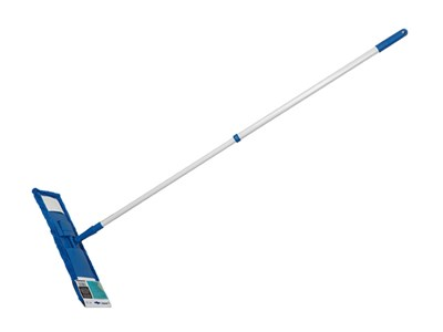 Швабра для пола с насадкой из микрофибры, синяя, PERFECTO LINEA (Телескопическая рукоятка 67-120 см) - фото 14179