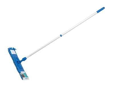 Швабра для пола с насадкой из шенилла, синяя, PERFECTO LINEA (Телескопическая рукоятка 67-120 см)