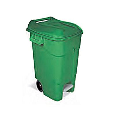 Контейнер для мусора 120л с педалью пластиковый