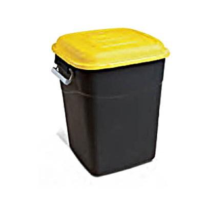 Контейнер для мусора 50 л пластиковый (желт. крышка)