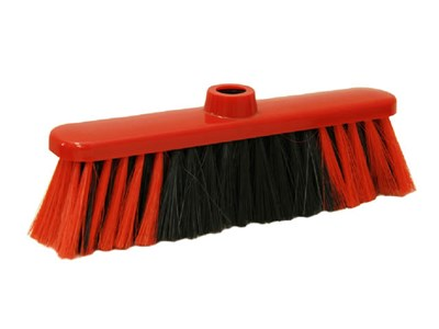 Щетка для уборки мусора ЛЮКС (красная) - фото 14764