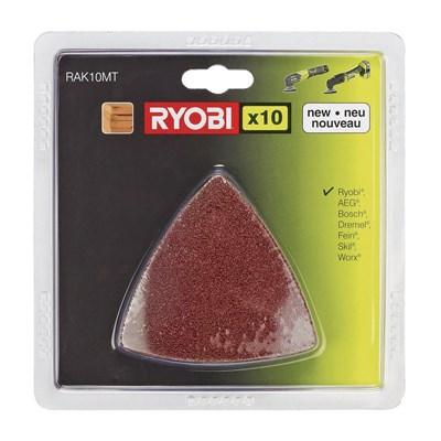 Набор шлифлистов для мультитулов (10 шт) - Ryobi RAK 10 MT