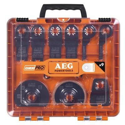 Набор насадок OMNI AEG для мультитула (9 шт в кейсе)