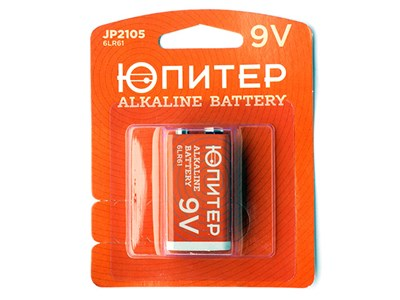 Батарейка (крона) 6LR61 9V alkaline - 1 шт. ЮПИТЕР