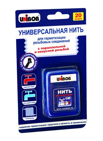 Нить для герметизации резьбовых соединений 20 м, UNIBOB