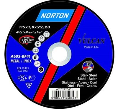 Круг обдирочный 115х6.4x22.2 мм для металла Vulcan NORTON - фото 16867