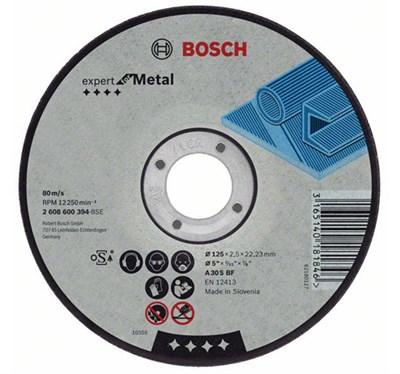Круг отрезной 125х2.5x22.2 мм для металла Expert BOSCH