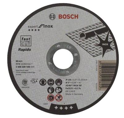 Круг отрезной 125х1.0x22.2 мм для нерж.стали Expert BOSCH