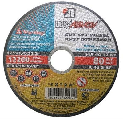 Круг отрезной 150х1.0x22.2 мм для металла LUGAABRASIV