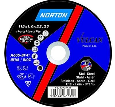 Круг отрезной 230х1.9x22.2 мм для металла Vulcan NORTON