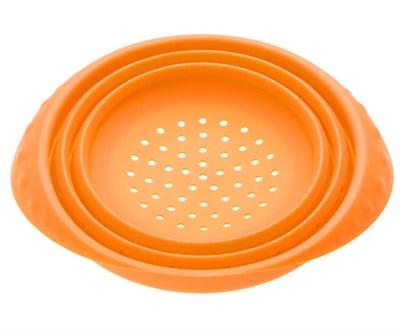 Дуршлаг, силиконовый, 18 х 8.5 см, оранжевый - фото 18536