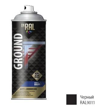 Грунтовка антикоррозийная INRAL GROUND ANTI-CORROSION (черный) 400 мл (9011)