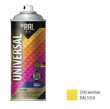 Эмаль аэрозольная универсальная INRAL UNIVERSAL ENAMEL 39 (желтый) 400 мл (1018)