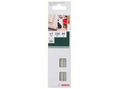 Клеевые стержни, белые, уп.10 шт., 7 мм (дер., картон.упак., уплотн.) BOSCH