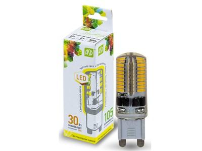 Лампа светодиодная JCD 3 Вт 160-260В G9 3000К ASD (4690612003764)