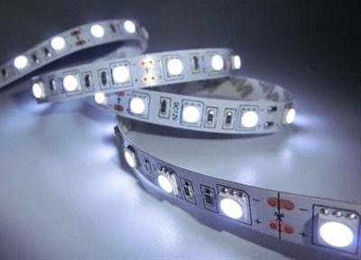 Лента светодиодная STN-5050/60 (5 м, холодный белый, большие светодиоды, IP20),  JAZZWAY - фото 21775