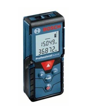 Дальномер лазерный BOSCH GLM 40 в кор. (0.15 - 40 м, +/- 2 мм, IP 54) - фото 24396