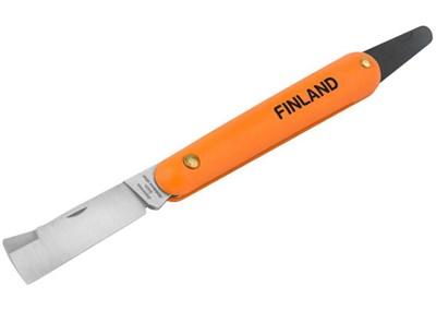 Нож прививочный с язычком для отгиба коры и прямым лезвием Finland