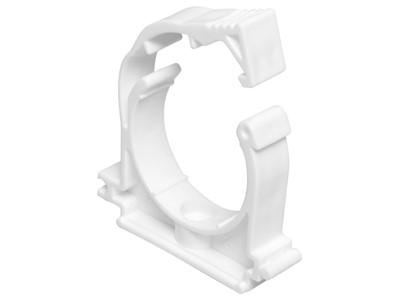 Кронштейн пластиковый c фиксатором 20мм, белый РосТурПласт