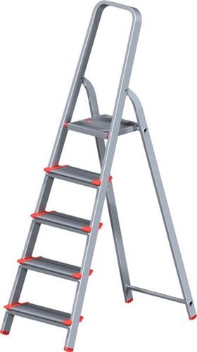 Лестница-стремянка алюм. проф с широкой ступенью 103 см, 5 ступеней, 5,1 кг. NV500 Новая Высота (макс. нагрузка 225 кг)