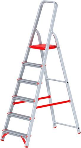 Лестница-стремянка алюм. проф 125 см, 6 ступеней, 5,2 кг. NV300 Новая Высота (макс. нагрузка 225 кг)