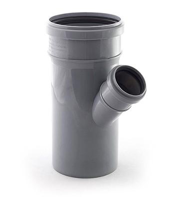 Тройник для внутренней канализации 110/50 мм/45°, РосТурПласт
