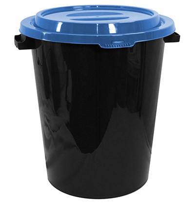 Бак пищевой 40 литров с крышкой (синий), IDEA