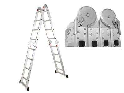 Лестница алюм. многофункц. 4х6 ступеней (стрем.-330 см, лестн.-680 см) 15,8 кг. STARTUL