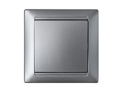 Выключатель одноклавишный скрытый BYLECTRICA Стиль, серебро