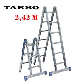 Лестница 2,42 метра, TARKO шарнирная 2-х секционная трансформерРНИРНАЯ 2-Х СЕКЦИОННАЯ ТРАНСФОРМЕР