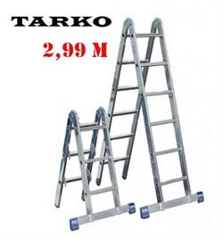 Лестница 2,99 метра, TARKO шарнирная 2-х секционная трансформер