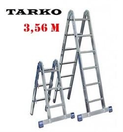 Лестница 3,56 метра, TARKO шарнирная 2-х секционная трансформер