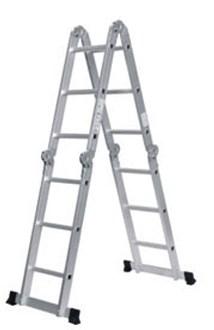 Лестница алюм. многофункц. 4х4 ступени (стрем.-228 см, лестн.-456 см) 13,2 кг. STARTUL