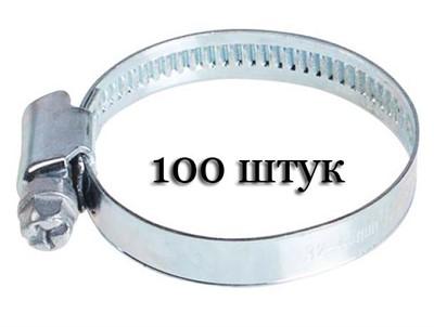 Хомут червячный (13-19 мм), ширина 9 мм, оцинк. (упак/100шт) - фото 73741