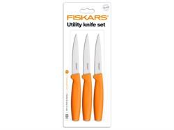 Набор ножей для чистки 3 шт. оранжевый Functional Form Fiskars 1014275