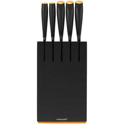 Набор ножей 5 шт. с деревянным черным блоком Functional Form Fiskars 1014190
