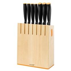 Набор ножей 7 шт. с деревянным блоком Functional Form Fiskars 1014225
