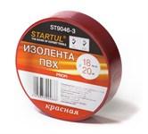 Изолента ПВХ 18 мм х 20 метров, красная, Startul