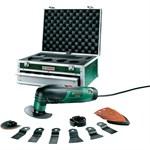Многофункциональный инструмент (реноватор) BOSCH PMF 190 E SET TOOLBOX (190 Вт) в алюм. чем. + набор оснастки