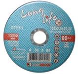 Круг отрезной 115х2.5x22.2 мм для металла Long Life LUGAABRASIV