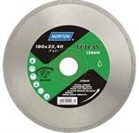 Алмазный круг 230х22.2 мм по керамике сплошной (мокрая резка) VULCAN TILE (NORTON)