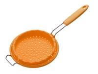 Дуршлаг с ручкой, силиконовый, Ø 172 мм х 9.5 см, оранжевый
