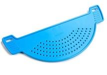 Дуршлаг на кастрюлю, голубая лагуна (235 х 78 х 14 мм)