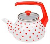 Чайник стальной эмалированный 2.2 л, серия Горошек