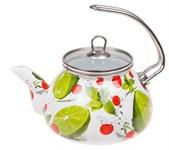 Чайник стальной эмалированный, 2.2 л, серия Сочный лайм